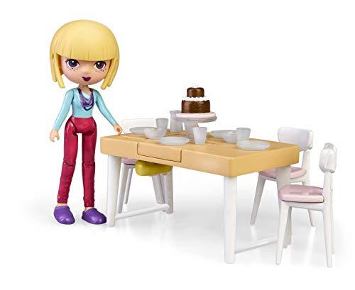 Mymy City- Living Room, Set de Muebles de Juguete con Accesorios y Figura (Famosa 700015818)