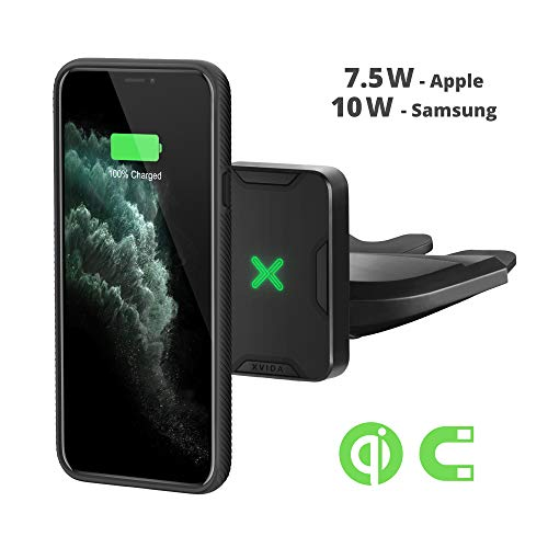 Xvida Magnetic Wireless Charger Car Mount, CD Slot Phone Holder, QC3.0 Fast Charging. Fits iPhone 11/ Pro/Max, Iphone10/XS Max/XS/XR/X/8 Plus/8, Samsung Galaxy S9/8/7/Note 8