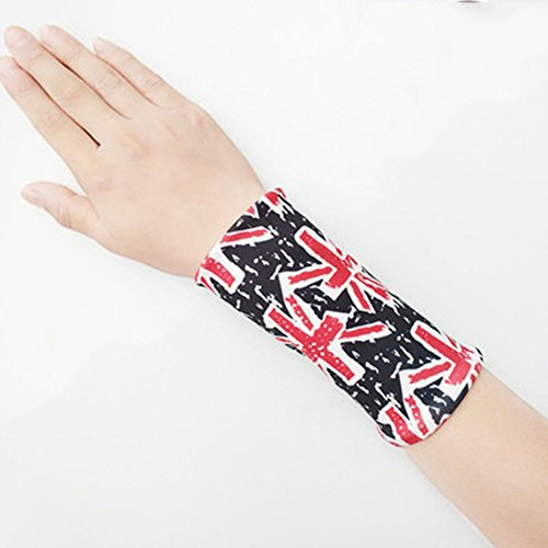 GVFDNTFRF Sommer Spitze Handgelenk handgelenk Abdeckung weiblichen Abdeckung Narbe tattoo Arm sleeve Langarm slim Dekorative fake Hülse, S, 12 cm langen schwarzen Reis Wort Flagge