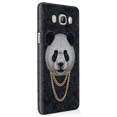 MerchCandy Custodia in Plastica Rigida per Samsung Galaxy J5 2016 Panda Head Gang Swag Dollars Money Rich Bich Animal Wild Cover Protettiva Sottile e Leggera