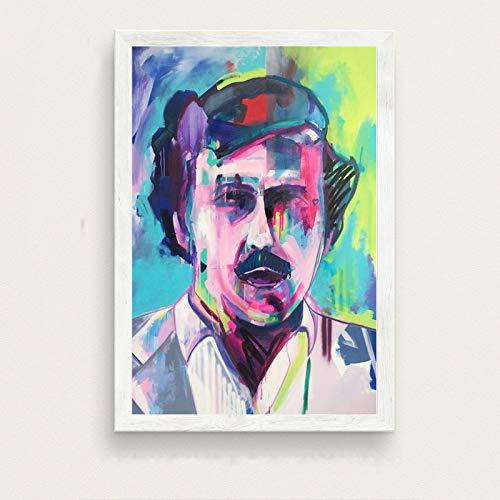 N / A Pablo Escobar Hot Célèbre Art Peinture Soie Toile Affiche Mur Décor À La Maison 40x50 cm
