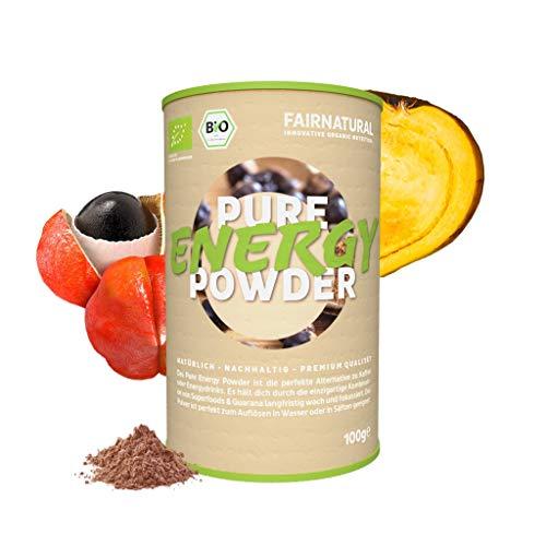 Fairnatural NEU Bio Energy Drink Pulver mit Guarana & Acai [Bio Booster aus Deutschland] » Gesunde & vegane Alternative zu Energydrinks & Kaffee « Aus vitaminreichen Superfoods (100g)
