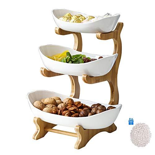 Dravem - Frutero con 3 pisos para frutas, fiestas de...