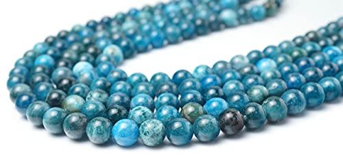 Rícraniano - Perla de piedra natural para joyas DIY, pulsera, collar, perlas y surtidos (8 mm)