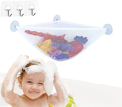 Bath Toy Storage Bath Toy Holder with 3 Strong Suction Cups Bathtub Toys Net Holder Organizer product image