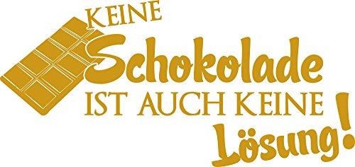 GRAZDesign 620513_50_820 Wandtattoo Wand-Spruch ber Schokolade   Küchen-Tattoos für Deine Küchen-Wände und Schränke   Für Esszimmer (106x50cm//820 Mustard)