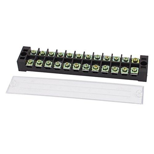 sourcingmap 600V 25A 12P de doble fila de tornillo de conexión de...