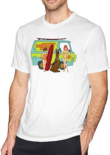 Tengyuntong T-Shirt Camisetas y Tops Polos y Camisas Scooby-Doo,Velma-Dinkley and Daphne-Blake Man'S Cotton