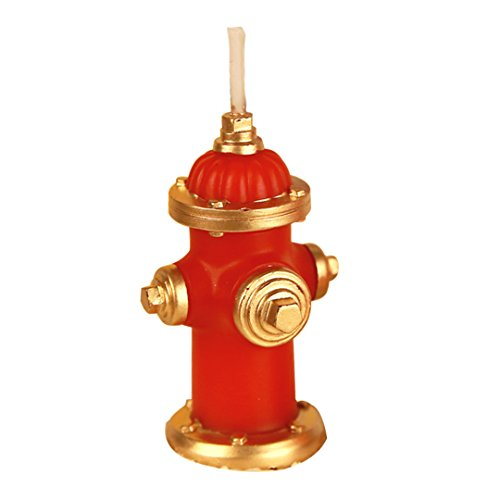 CHARMING Birthday Candle Cake Topper Firefighting Candle