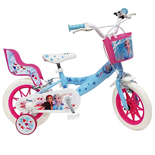 Mondo Bicicleta 12&quot Frozen, Color Blanco y Azul Claro, 4 à 5 ANS (25281)