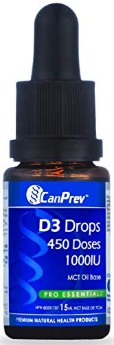 CanPrev D3 Drops 1000IU- MCT base 15ml