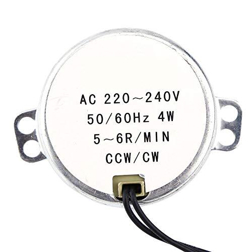Motor síncrono, 1pc 220-240V CA 4W CW/CCW 4W 50 / 60Hz Motor engranado síncrono para mecanismo de ventilación de ventilador eléctrico, calentador(5-6RPM)
