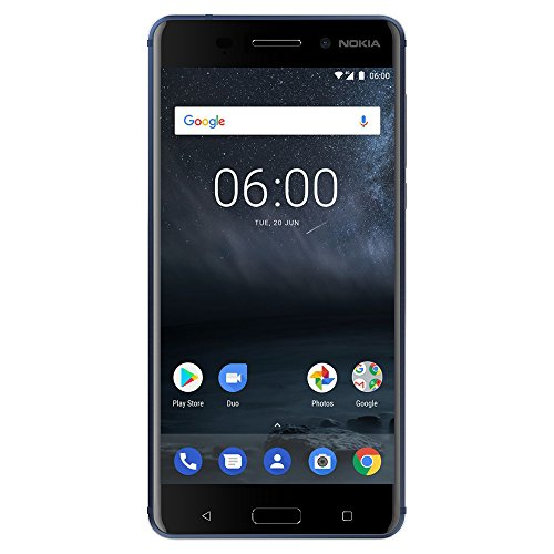 "Nokia 6 - Android 9.0 Pie - 32 GB - Dual SIM Unlocked Smartphone (AT&T/T-Mobile/MetroPCS/Cricket/Mint) - 5.5"" FHD Screen - Blue - U.S. Warranty"