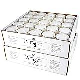 Pritogo Teelichter Kunststoffhülle, Weiss [50 Stück] Ø 3,8 * 2,5 cm, Rußfrei, Brenndauer: 9 Stunden - 2