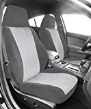 Front Sport Buckets Seats, CalTrend O.E. Velour Seat Covers for 1989-2002 Toyota 4Runner Toyota T100 Toyota Tacoma Light Grey Premier Insert with Classic Trim