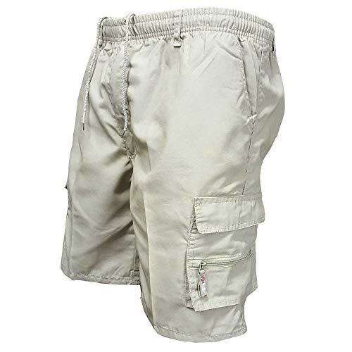 MCSZG Shorts Hommes Pantalon Court Cargo Multipoches latérales Shorts de Travail pour Hommes Shorts d'entraînement décontractés Plus la Taille Coton Bermuda extérieur
