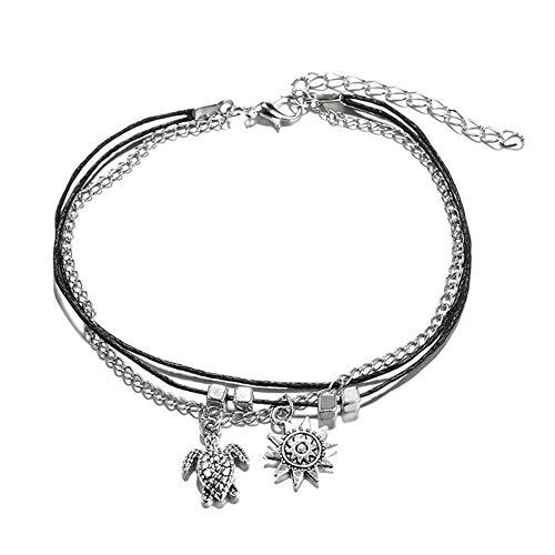 redcherry Sterling zilveren enkel, oneindigheid liefde symbool ketting verstelbare enkelband voet sieraden voor vrouwen meisjes
