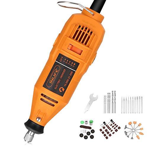InLife Utensile Rotante Mini Smerigliatrice Elettrica Multifunzione con 99 Accessori e Velocità Regolabile da 10.000 a 37.000 RPM