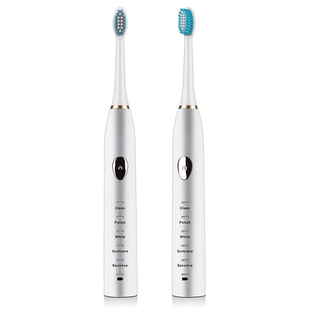 胚芽キャンプ協定電動歯ブラシ、電動歯ブラシ、音波磁気サスペンション、電動歯ブラシ、誘導充電、成人家庭、超音波歯ブラシ、柔らかい毛(色:白)