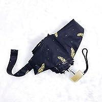 傘 フラットサン傘折りたたみ二重目的傘 ポータブル (Color : D)