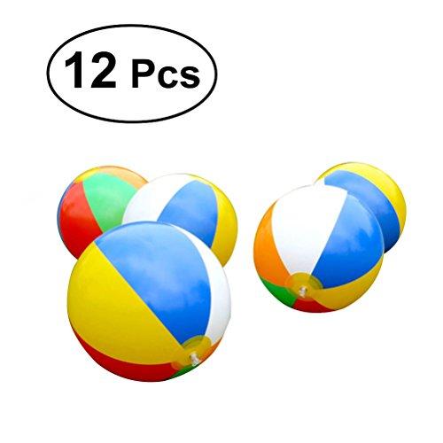 Pack de 1 eBuyGB Ballon de Plage Gonflable Football 25 cm//9 Jeu de Piscine de Plage