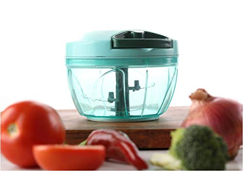 Chefstar Plastic Quick Cutter, Vegetable Cutter, Handy Chopper, Green