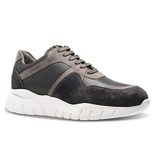 Strellson otter sneaker lfu Herren Leder Sneaker, dunkelgrau, EU 45