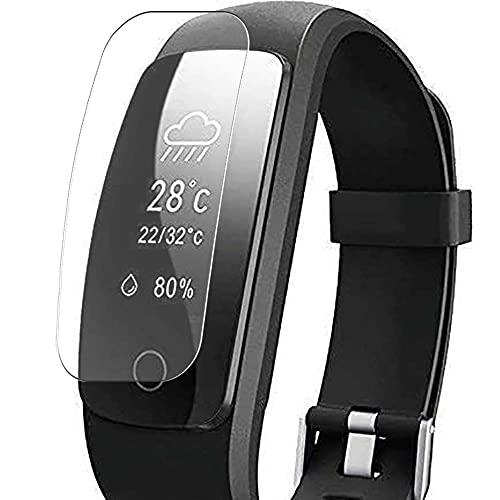 Vaxson 3 Stück Schutzfolie, kompatibel mit Willful YAMAY SW331 Fitness Tracker smartwatch, Displayschutzfolie TPU Folie [ nicht Panzerglas ]