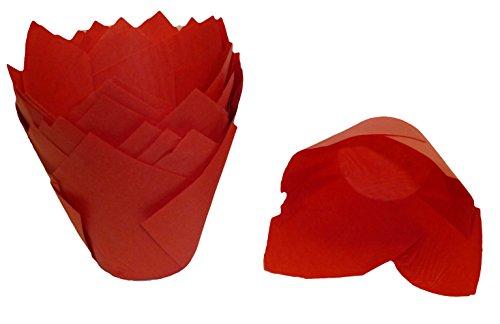 Scrumptious Sprinkles Lot de 200 papiers à Muffin en Forme de Tulipe Rouge