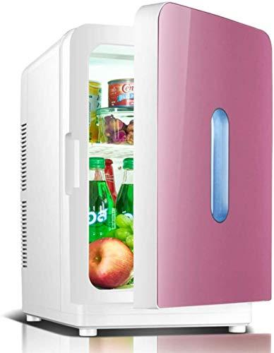 ewrwrwr Mini refrigerador de sobremesa Refrigerador portátil de bajo Ruido de una Sola Puerta Tablero de partición extraíble Ahorro de energía y protección del Medio Ambiente 12L Rojo-Rojo