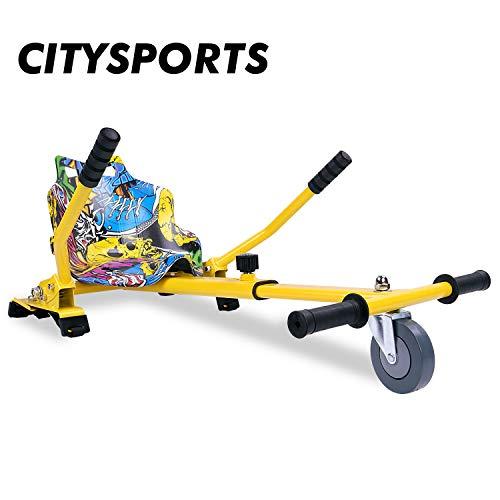 "CITYSPORTS Hoverkart con Sedile, Hovercart Regolabile per Hoverboard, Compatibile per Hoverboard da 6.5""a 10''"
