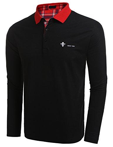 COOFANDY Poloshirt Langarm Herren