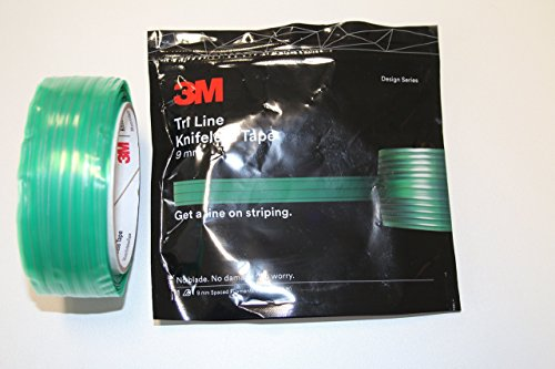3M Tri-Line Knifeless Tape - 9mm- 50m (164ft) Unique, truole-lined tape ensures accurate, consistent stripe width from one end of the car to the other
