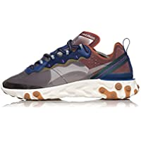 Nike React Element 87, Zapatillas de Atletismo para Niños, Multicolor (Dusty Peach/Atmosphere Grey 200), 36.5 EU