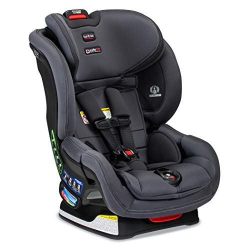 Britax Boulevard ClickTight Convertible Car Seat | 2 Layer Impact Protection - Rear & Forward Facing - 5 to 65 Pounds, Cool Flow Moisture Wicking Fabric, Cool N Dry Charcoal [Amazon Exclusive]