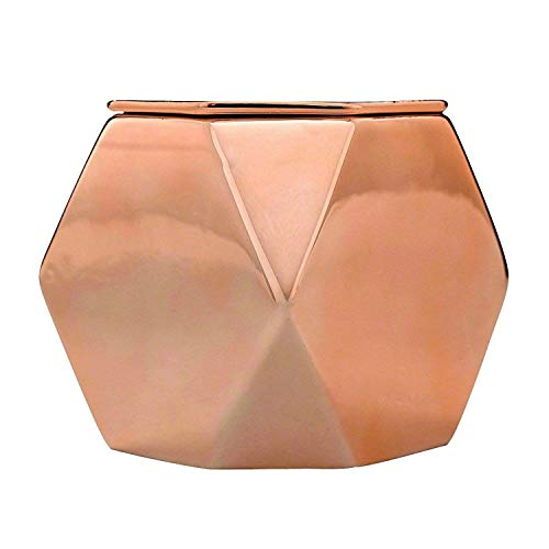 LA JOLIE MUSE Soy Candles Jasmine and Gardenia Scented Ceramic Jar, 27 Ounce 3 Wicks, 125 Hours Large Rose Gold, Candle Gifts for Women