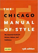 The Chicago Manual of Style, 15th Edition