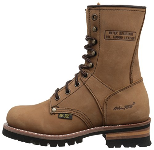 Ad Tec Women's 9″ Logger Brown-W Boot (Brown, Numeric_7_Point_5)