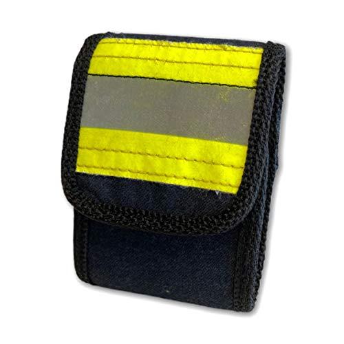 Roter Hahn 112 Feuerwehr DME Holster Piepser Tasche Melder Funkmeldeempfänger/HUPF Navy/Aus gebrauchter Feuerwehrkleidung/Original