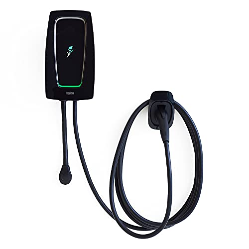 Electrify America - HomeStation Level 2 WiFi Enabled Electric Vehicle (EV) Home Charger, up to 40 Amps, 240V, UL and Energy Star Certified, Indoor/Outdoor use, with 24 ft. Cable
