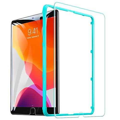 ESR Screen Protector voor iPad 10.2 2019 (7e Gen)/iPad Air 3 2019/iPad Pro 10.5, [gratis installatie Frame] [krasbestendig] [9H Hardheid] HD Clear Premium gehard glas Screen Protector, 1 Pack