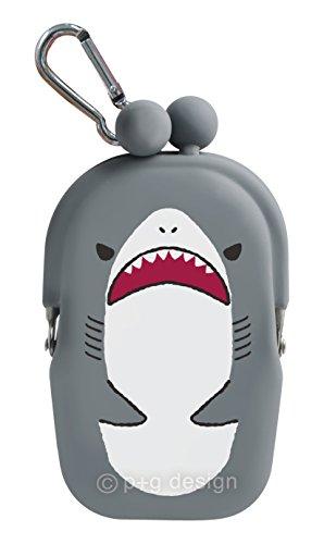 P + G Design Aquarium Silikon Coin Geldbörse Grey Shark