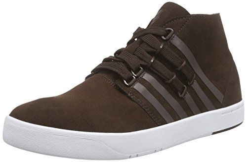 K-Swiss Dr Cinch Mens Lace Up Outdoors Chukka Boots Shoes Dark Chocolate Brown 7.5 US
