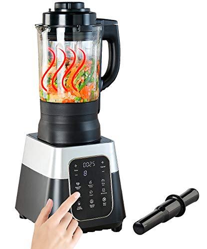 Rosenstein & Söhne Sojamilchbereiter: Profi-Standmixer mit Wärme-Funktion, Touch-Tasten, 1,75 l, 1.500 Watt (Thermo Mixer)