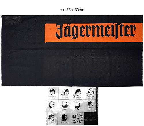 Jägermeister Schal Schlauchschal Skimaske Haarband Kopfband Bandana Armband - 100 Prozent Polyester