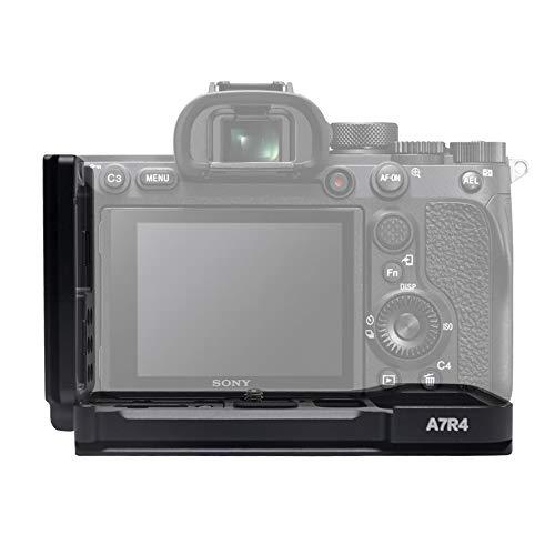Mcoplus MCO-A7IVG Hand Grip, Metall Handgriff Halterung für Sony A7IV, A7R IV, A9 II Alpha spiegellose Digitalkamera, Aluminium, Schwarz