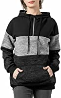 FITNEXX Women's Fashion Quarter Zipper Pullover Hoodies Long Sleeve Warm Fleece Hooded Sweatshirts Loose Tunics with Pocket