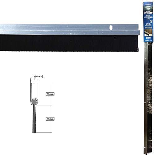 Türboden-Dichtung/Luftzugstopper aus Aluminium mit Bürste, 838 mm, Silber