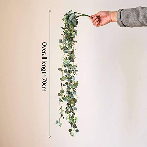 Simulation Ivy,Begonia Chinensis Chlorophytum Green Plant Simulation Hanging Plant Floral Suitable For Venue Layout Indoor And Outdoor Decoration, Etc.-D section long 70cm