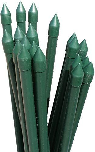 支柱 国華園 イボ付鋼管製支柱スーパー 直径20mm 長さ120cm 50本組 家庭菜園 園芸支柱 イボ竹 ガーデニング